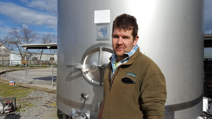 Sharemilker Adam Giddens believes synthetic and natural dairy will co-exist