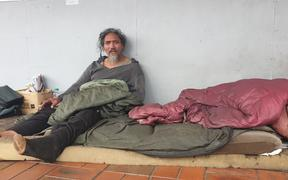 Rough sleeper Derek in Hawera, South Taranaki
