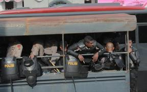 Indonesian police respond to large anti-racism protests, Jayapura, 19 August 2019