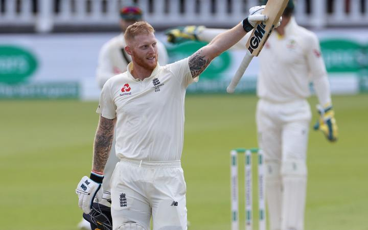 England all-rounder Ben Stokes celebrates an Ashes century against Australia.