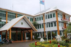 The Tuvalu government building in Funafuti.