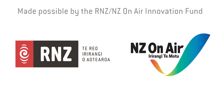 RNZ/NZ On Air Innovation Fund logos