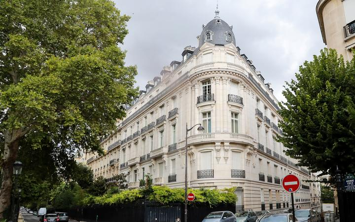 An apartment building owned by Jeffrey Epstein in the 16th arrondissement of Paris. Epstein, whose suicide in jail over the weekend has outraged his alleged victims, owned an apartment near in Paris and had been in the city just before his arrest in New York in July.
