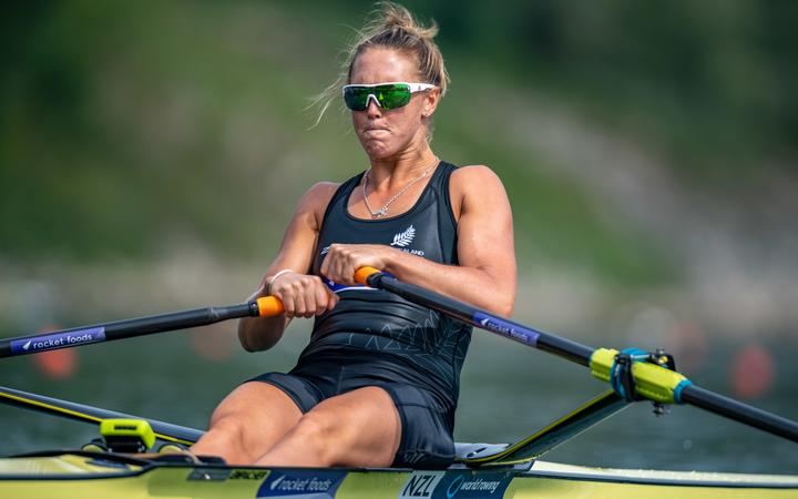Emma Twigg NZ Women's Single Scull.