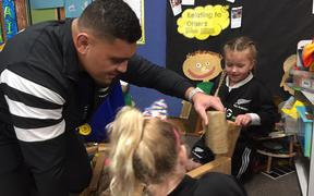 The All Blacks visited Auckland hospital