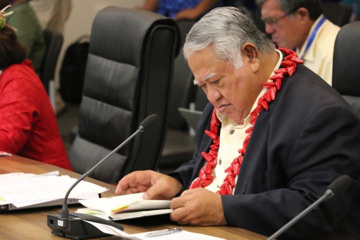 The prime minister of Samoa, Tuilaepa Sailele Malielegaoi, at the 2019 Pacific Islands Forum Summit in Tuvalu.