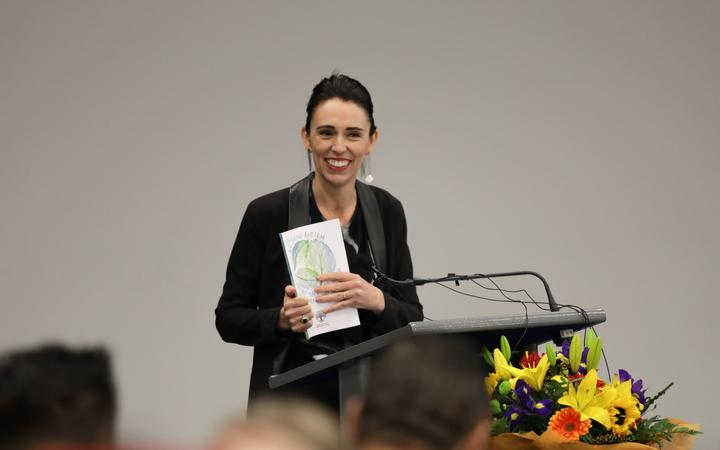 Prime Minister Jacinda Ardern, at Kaitao Intermediate School in Rotorua, announces free lunches for schools.
