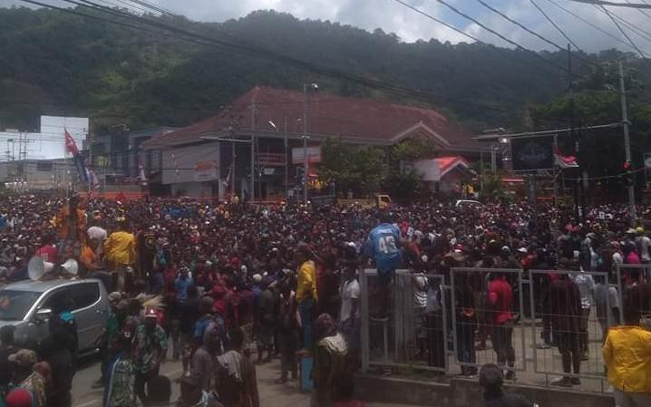 West Papuans demonstrating in Jayapura, 29 August, 2019.
