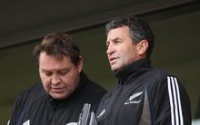 Wayne Smith and Steve Hansen as All Black assistant coaches, 2008.