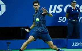 Defending US Open champion Novak Djokovic