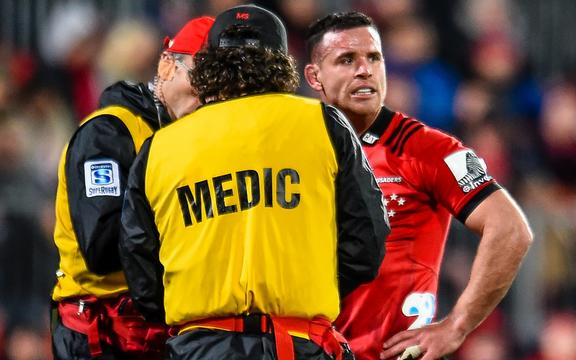 Ryan Crotty injured his thumb in the Super Rugby semi-final