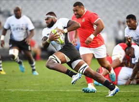 Fiji Flanker Semi Kunatani impressed with the ball in hand against Tonga