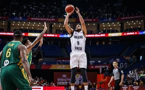 Tall Blacks shooting guard Corey Webster against Brazil and the FIBA Basketball World Cup in China.