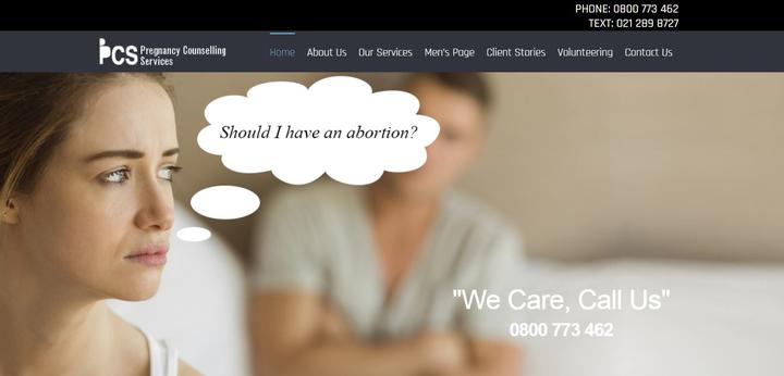 The PCS website makes no mention of the organisation's founding, pro-life purpose.