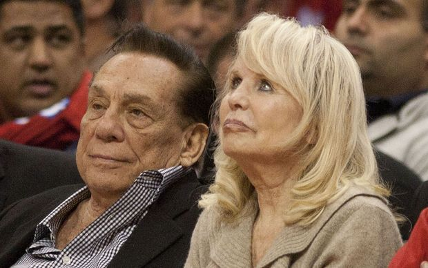 Los Angles Clippers' owners Donald Sterling and Wife Shelly during the Western Conference game 2 between Los Angeles Clippers and Memphis Grizzlies at the Staples Center in Los Angeles, California on Monday 22 April 2013.