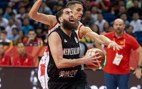NANJING,CHINA:SEPTEMBER 3rd 2019.FIBA World Cup Basketball 2019 Group phase match.Group F Match F3 New Zealand vs Montenegro . Small Forward Jordan NGATAI in action