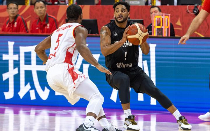 NANJING,CHINA:SEPTEMBER 3rd 2019.FIBA World Cup Basketball 2019 Group phase match.Group F Match F3 New Zealand vs Montenegro .Shooting Guard, Corey WEBSTER in action.Photo by Jayne Russell / www.PhotoSport.nz