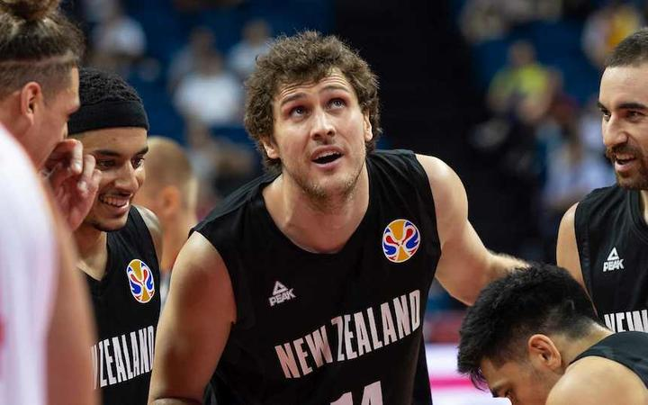 FIBA World Cup Basketball 2019 Group phase match.Group F Match F3 New Zealand vs Montenegro : Centre Rob Loe talks about a penalty shoot