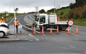 Bus rolled in Ngātira, west of Rotorua, closing the road at junction of SH28 and SH5