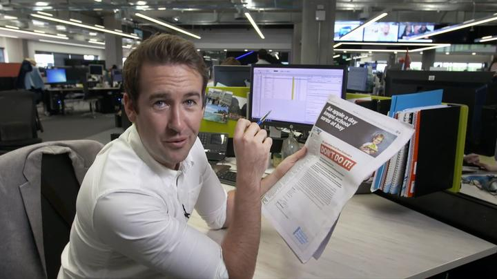 TVNZ's Lucas De Jong checks out a curious Herald on Sunday ad . . . and found it didn't check out at all.