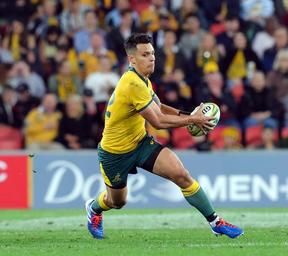 Matt To'omua in action for the Wallabies against Argentina.