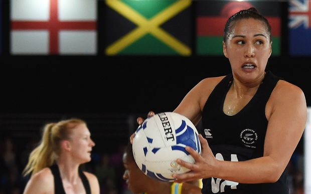 Liana Leota filled in at goal attack in the win over St Lucia.