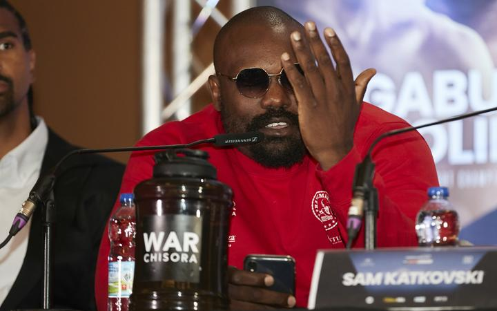 Derek Chisora conference in London ahead of his Heavyweight fight against Joseph Parker at The O2 in London on Saturday October 26.