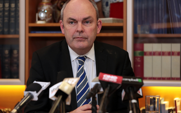 Steven Joyce  during a press conference regarding Novopay next steps.