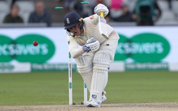 Jason Roy is bowled by Josh Hazlewood during the 4th Ashes Test Match between England and Australia at Old Trafford, Manchester on 6th September 2019. Copyright photo: Graham Morris / www.photosport.nz