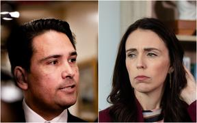 Simon Bridges and Jacinda Ardern