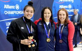 New Zealand's Tupou Neiufi claimed the Silver Medal in the Women's 100m Backstroke S8 at the World Para Swimming Championships, London, UK. 10 September 2019. © Delly Carr / www.Photosport.nz