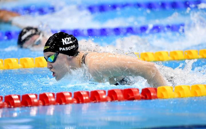New Zealand's Sophie Pascoe wins gold the Womens 100m Butterfly Final S9 Category at the World Para Swimming Championships, London, UK. 11 September 2019. © Delly Carr / www.Photosport.nz