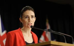 Prime Minister Jacinda Adern at this morning's press conference