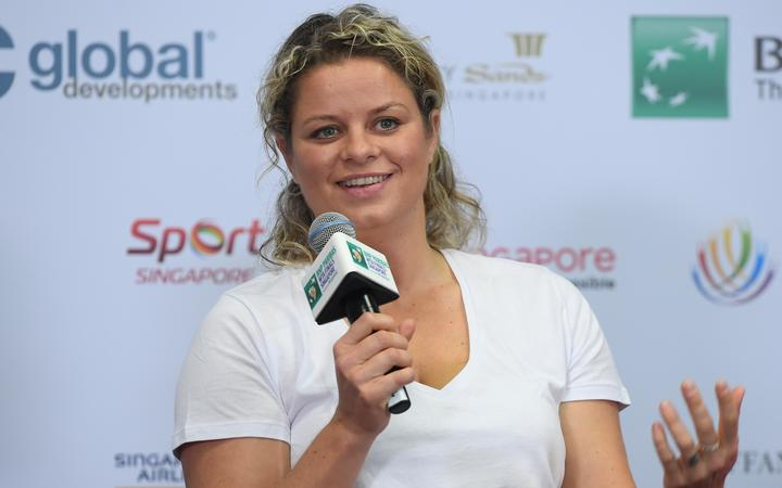 Kim Clijsters (BEL), OCT 22, WTA Legends - 2018 BNP Paribas WTA Finals (Photo by Haruhiko Otsuka/AFLO)