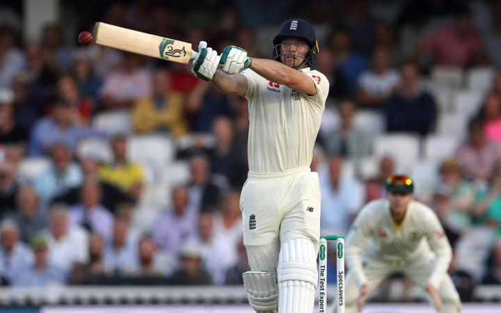 Jos Buttler bats during the 5th and final Ashes Test Match between England and Australia at The Oval. Photo: Graham Morris (Tel: +44(0)20 8969 4192 Email: sales@cricketpix.com) 12/09/19