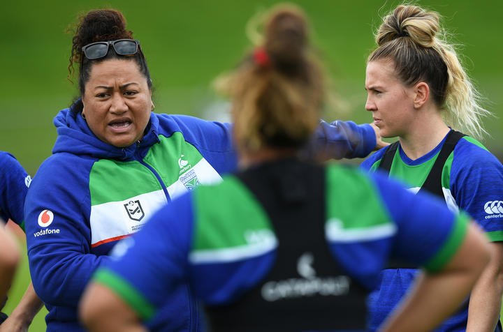 New Zealand Warrior's womens coach Luisa Avaiki.