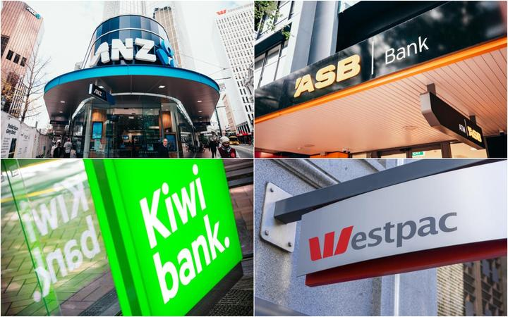 Composite picture of ANZ, ASB, Westpac and Kiwibank.