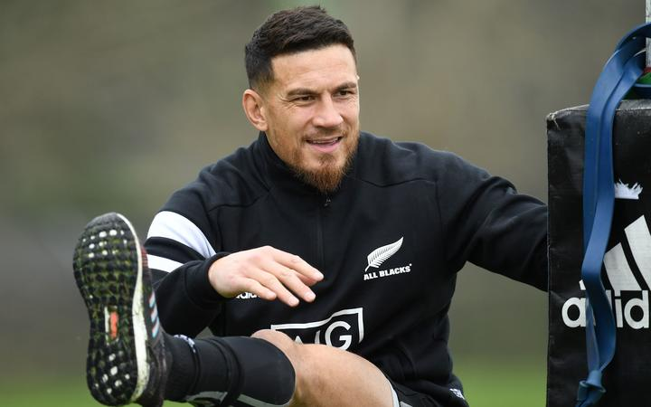 Sonny Bill Williams at an All Blacks training session.