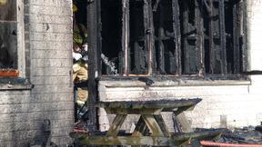 Fire damage at Russley School, Christchurch