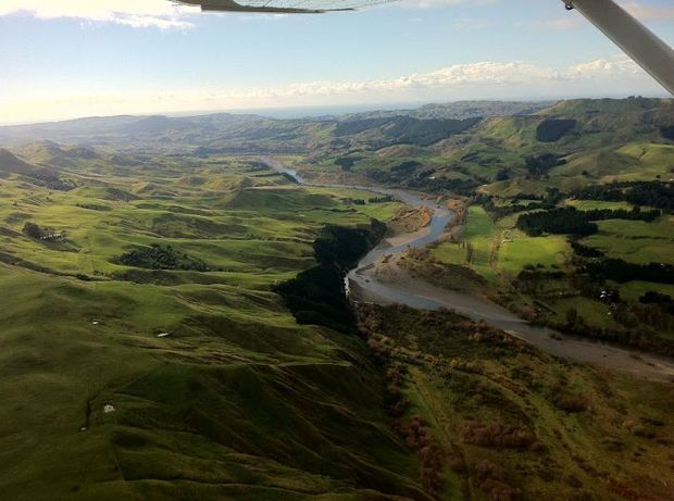 An aerial view of the Tukituki Valley in Hawke's Bay.