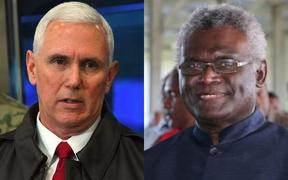 Mike Pence and Manasseh Sogavare