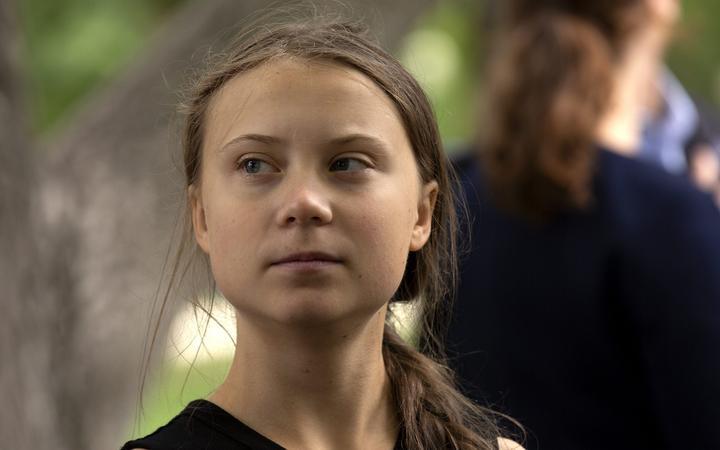 Youth climate activist Greta Thunberg joined United States Senator Ed Markey (Democrat of Massachusetts) at a press conference on climate change outside the U.S. Capitol in Washington D.C., U.S. on September 17, 2019.