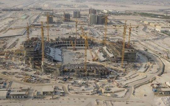 The 80 thousand seat Lusail Stadium which will host the opening match and final.
