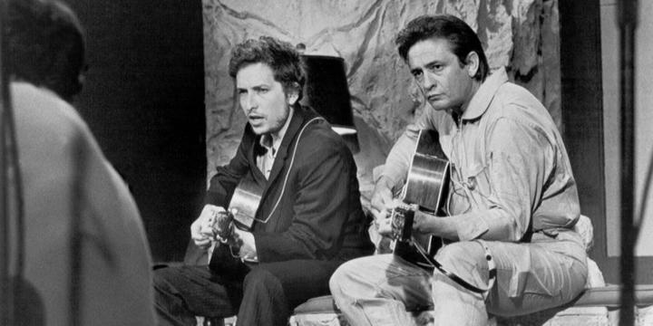 Bob Dylan and Johnny Cash, June 1969