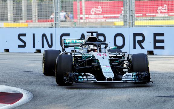 Lewis Hamilton in Singapore
