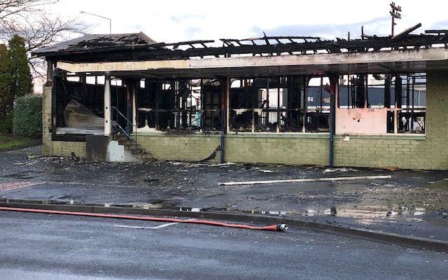 Asbestos-filled railway building burns down in Hastings