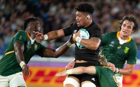 Ardie Savea in action for the All Blacks.