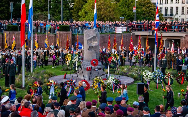 A view of the 75th anniversary of the Battle of Arnhem ceremony, in Arnhem on September 20th, 2019. (Photo by Romy Arroyo Fernandez/NurPhoto)