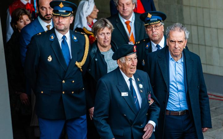 WWII veteran, Ben Roelofs is seen arriving to the 75th anniversary of the Battle of Arnhem ceremony, in Arnhem on September 20th, 2019. (Photo by Romy Arroyo Fernandez/NurPhoto)