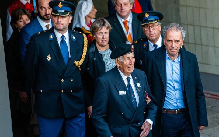 WWII veteran, Ben Roelofs is seen arriving to the 75th anniversary of the Battle of Arnhem ceremony, in Arnhem on September 20th, 2019. (Photo by Romy Arroyo Fernandez/NurPhoto)